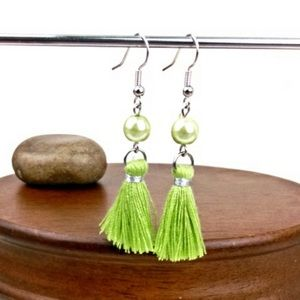 NEW!! Faux Pearl and Tassel Earrings